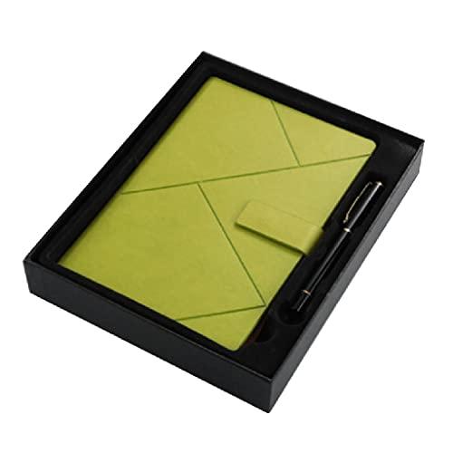 WPBOY Cuaderno Caja De Regalo Diario Simple Y Personalizado Juego De Bloc De Notas con Hebilla (100 Hojas / 200 Páginas) (Color : Green)