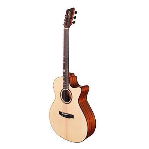 Tyma HGE-350S - Guitarra de cuerdas de acero de alta calidad...