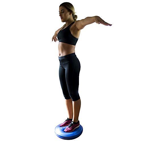 PhysioRoom Stability Wobble Board Cushion (45cm) - Inflatable Sensory Cushion to Encourage Active Sitting, Reduce Back Pain, Improve Posture, Core Strength & Balance Training Exercises, Yoga & Pilates