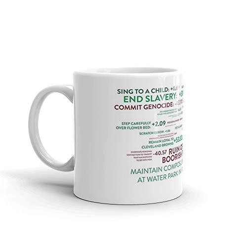 The Good Place - Points System Mug 11 Oz White Ceramic