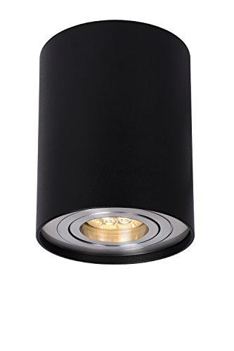 Lucide TUBE - Spot Plafond - Ø 9,6 cm - GU10 - Noir
