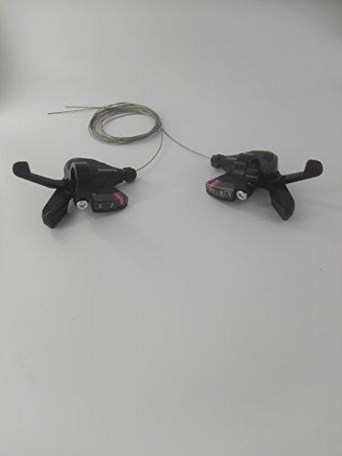 SHIMANO Schalthebel SL-M310 3x7 Set 21 Gänge inkl. Schaltzüge schwarz Altus