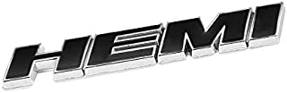UrMarketOutlet HEMI Black/Chrome Aluminum Alloy Auto Trunk Door Fender Bumper Badge Decal Emblem Adhesive Tape Sticker