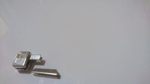 Unbekannt Reißverschlüsse Reparatur Set Gr. 5 Farbe Silber Kastenteil und Steckteil