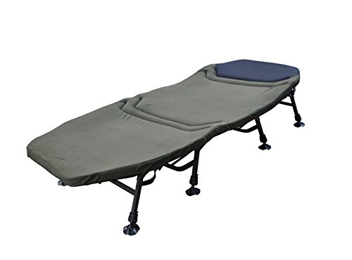 MK-Angelsport Platinum Karpfenliege XXL Bed Chair 8-Bein Liege mit Matratze (212 x 98 x 40 cm) Campingliege Gästebett