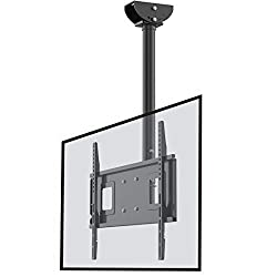 Loctek CM2 Ceiling TV Wall Mount Full Motion Adjustable Tilting Bracket Fits Most 32-65  inch LCD LED Plasma Monitor Flat Panel Screen Display
