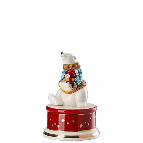 """Hutschenreuther Weihnachtslieder 2019\"""" Schneeflöckchen, Weißröckchen Ø 9 cm/Höhe: 13 cm Spieluhr klein, Porzellan, Bunt"""