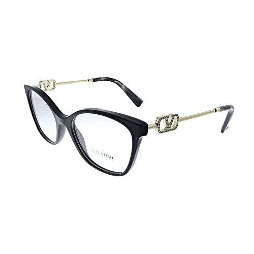 Valentino VA 3050 5001 - Gafas de mariposa (plástico, 52 mm), color negro