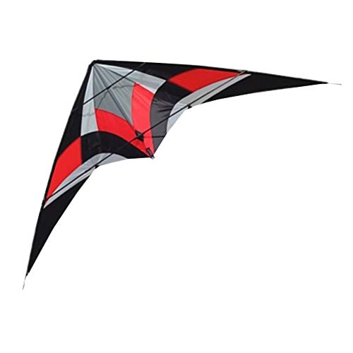 XQDSP Worlds Thunder Doble línea Sport Breeze Truco Triangle Kite Sports Kite,Red