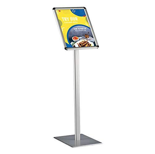 DISPLAY SALES Información soporte Fijación DIN A3 Rondo para carteles con 297 x 420 mm. Plata Premium Diseño Información soporte (1 m Altura Total). inoxidables pesado placa de aluminio