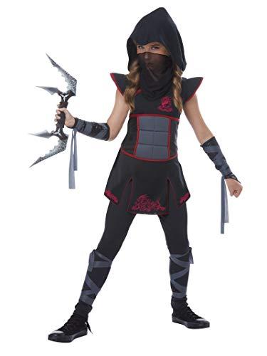 California Costumes Fearless Ninja Girls Costume, Black/Red, Small