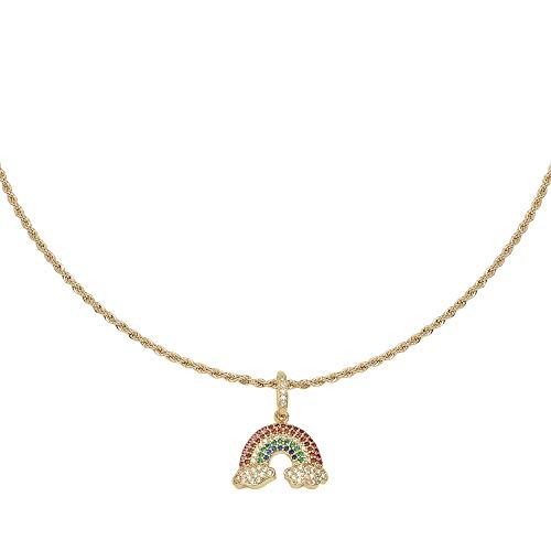 Yehwang werd in 2008 opgericht - Premium design dames modesieraden - handgemaakte gouden ketting - zirkonia Rainbow
