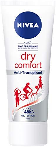 Nivea Dry Comfort Deo Crème in 6-pack (6 x 75 ml), anti-transpirant voor elke dagelijkse situatie, deodorant met 48 uur bescherming