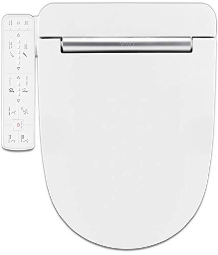VOVO STYLEMENT VB-3000SE Electronic Smart Bidet Toilet Seat, Heated Seat, Warm Dry and Water, LED Nightlight, One-piece Toilet Bidet Seat, Elongated - White