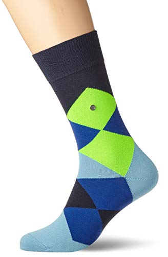 BURLINGTON Herren Socken Neon Clyde SO - Baumwollmischung, 1 Paar, Blau (Marine 6120), Größe: 40-46