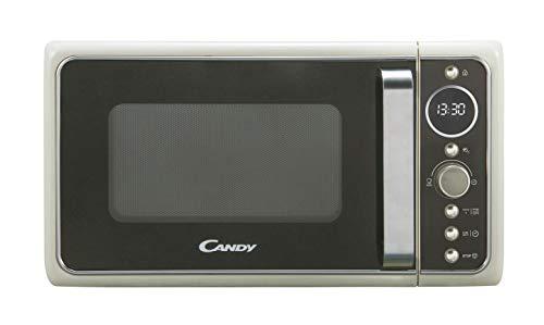 Candy, Divo G20CC, forno a microonde con grill 20 l, 1200 W, 9 programmi, Express cooking, timer, display digitale circolare, 6 livelli di potenza, colore: crema
