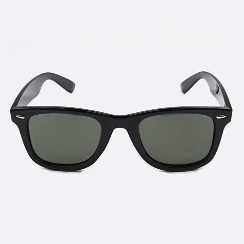 Contacta Ikona Nero Lente Verde – Occhiale da Sole con Lenti Polarizzate – Lente Verde Grigia Celeste – Uomo Donna – Sacchetto Porta Occhiali in Microfibra - 24 g