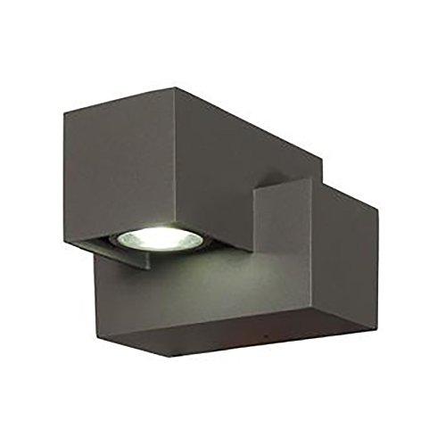 BRANDSSELLER LED buitenwandlamp massieve wandlamp buitenlamp wandspot aluminium - 6W - 230 lumen - warme toon - IP54
