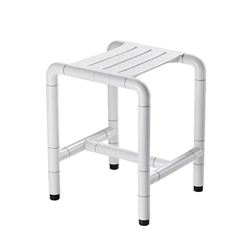 Bath Chair Shower Stool Barrier-Free Shower Seat, Bathroom Elderly Disabled Stainless Steel Anti-Skid Bath Stool Shower Stool, Maximum Load-Bearing 300KG Bathroom Wheelchair Aids Adjustable