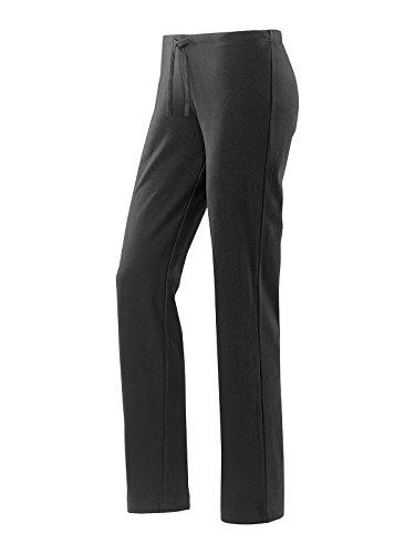 Joy Sportswear Freizeithose Shirley für Damen - Bequeme Jogginghose aus Baumwolle & Stretch-Material | Loose Fit & gerader Schnitt | Sport Hose für Training & Alltag Langgröße, 80, Black