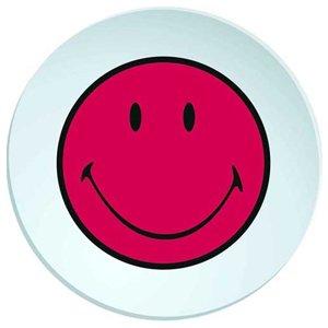 zak! Designs 6662-0323 Smiley Teller, Tief, 20 cm, Grenadine/weiß