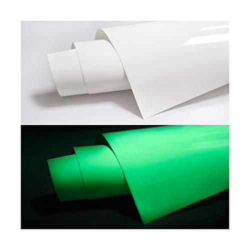 PPS. Imaging Leuchtfolie Meterware lang nachleuchtend - Klebefolie Leuchtend für Wände, Fluoreszierende Folie, Glow in The Dark Selbstklebefolie, lumineszierend, Wandtattoo, Größe HxB:50cm x 100cm