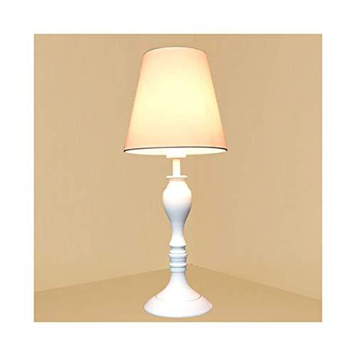 WFL-lámpara de escritorio Protección de los ojos del estilo lámpara de mesa moderna europea Tela lámpara de mesa de atenuación luz de la noche Sala de estar Decoración dormitorio de la lámpara de cabe