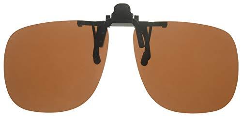Fitsch Online UG Brillenaufsatz braun Sonnenbrillen-Clip Sehbrillen-Aufsatz mit polarisierenden Gläsern