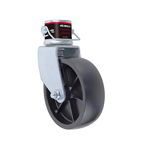 """NBJINGYI 6"""" Trailer Swirl Jack Caster Wheel 1200lbs Capacity with Pin Base for Boat Hitch Camper Removable"""