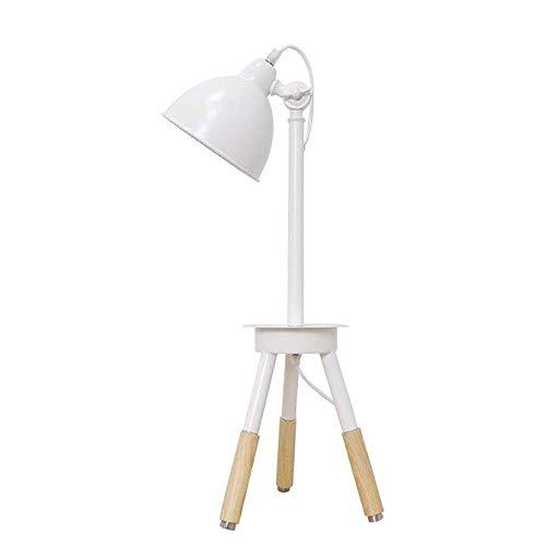 CHENJIA Oficina Lámpara de mesa de 60 cm nórdica Soild Madera Tabla E27 Moderno luz creativa dormitorio de noche Linterna ajustable Study Desk metal de la lámpara de escritorio de iluminación decoraci