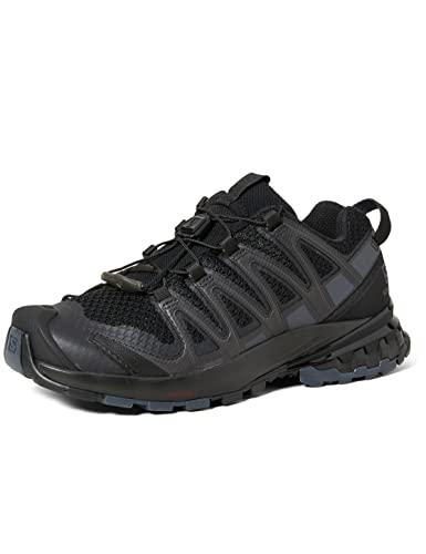 Salomon XA Pro 3D V8 Mujer Zapatos de trail running, Negro (Black/Phantom/Ebony), 42 2/3 EU