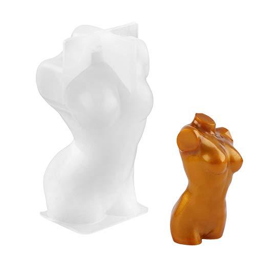 Molde de resina de silicona, Gukasxi 3D Diosa forma de cuerpo molde para resina Crafting Sexy Model Body Stand Ornamento Molde de resina Femenino Body Art Moldes de silicona para bricolaje Artesanía