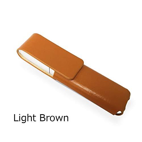 IQOS 3 MULTI 専用 アイコス3 マルチ ケース (ライトブラウン) iQOSケース シンプル 無地 保護 カバー 収納 カバー ブラック/ブルー/ブラウン/ライトブラウン 全4色 電子たばこ おしゃれ 革 人気 便利