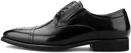 LHLWDGG.K zapatos Oxford Hechos A Mano De Los hombres zapatos De Vestir Formales zapatos De Boda De Los hombres, marrón, 8.5