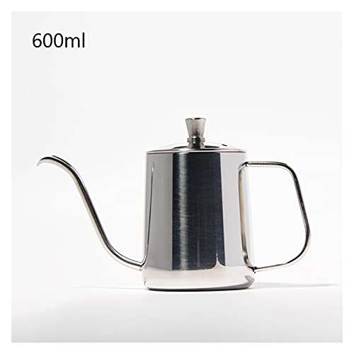 Ekspres do kawy, 350/600 ml uchwytu montażowego ze stali nierdzewnej dłonie dziurkacze do garnki kawiarki kroplowe gęseck wylewek długi usta czajnik czajnik (Color : 600ml 05)