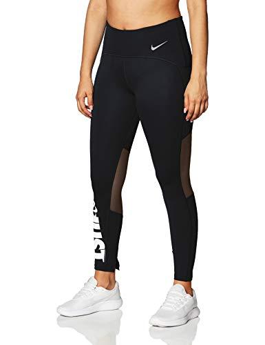 Nike Damen Speed 7/8 Tights, Black/White/Reflective Silver, S