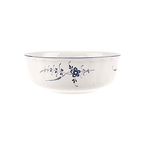 Villeroy & Boch Vieux Luxembourg Plat creux rond, 24 cm, Porcelaine Premium, Blanc/Bleu