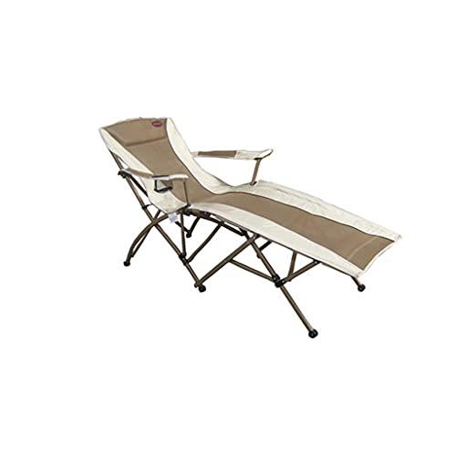 SJYDQ Cama Plegable sillas Plegables de Aluminio reclinable Silla de Oficina Siesta Cama Acompañando a la Silla de Playa