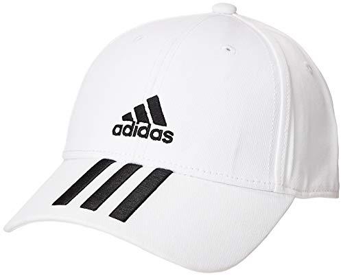 adidas Bball 3S Cap CT Gorra, Unisex Adulto, White/Black/Black, OSFM