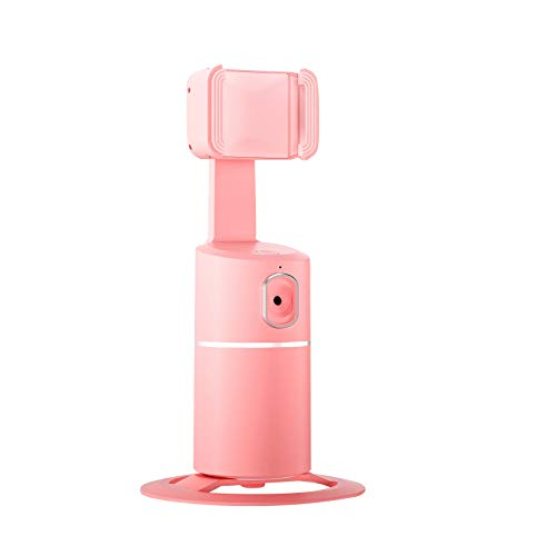 Beudylihy Smart Tracking Holder tragbarer intelligenter Rotation Auto Face Aufnahme Gimbal Robot Cameraman für Vlog Live Video Smartphone Gimbal Stabilizer für Live-Streams, Live-Videos (Pink)