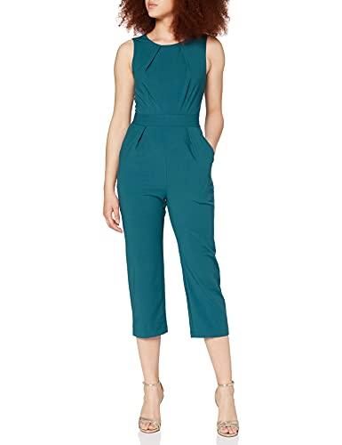 Closet London Damen Sleeveless Jumpsuit, Grün (Teal Teal), 38 (Herstellergröße: 12)