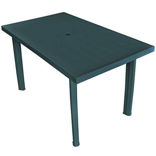 vidaXL Gartentisch 126x76x72 cm Grün Kunststoff Tisch Campingtisch Balkontisch