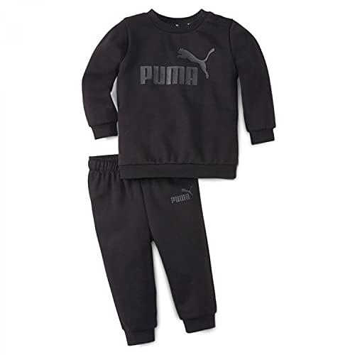 Puma MINICATS ESS Crew Jogger FL Trainingsanzug Sportanzug 846142 Schwarz, Bekleidung:104