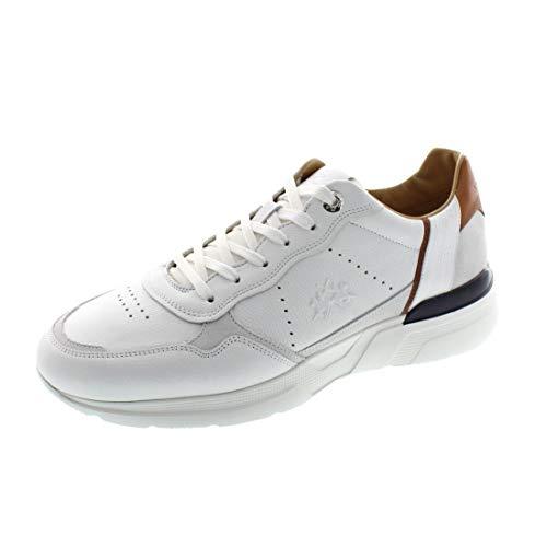 La Martina Herrenschuhe - Sneaker LFM201092 - Bianco, Schuhgröße:43