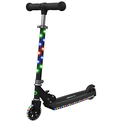 Jetson Jupiter Kick Scooter with LED Light-Up Deck, Stem, and Wheels, for Kids 5 and Up (Renewed)