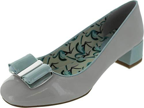 Ruby Shoo Ladies June Stone and Mint Patent Bow Pump Vegan Friendly Shoes-UK 4 (EU 37)