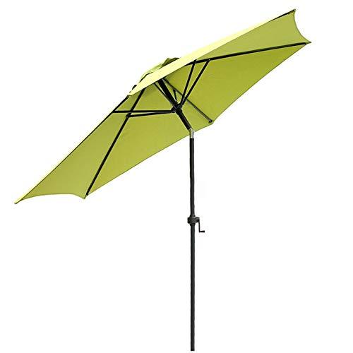 HWF Sombrilla Sombrillas de jardín con manivela e inclinación, Sombrilla al Aire Libre de 9 pies / 2,7 m para Patio/Playa/Piscina, Protector Solar UV50+
