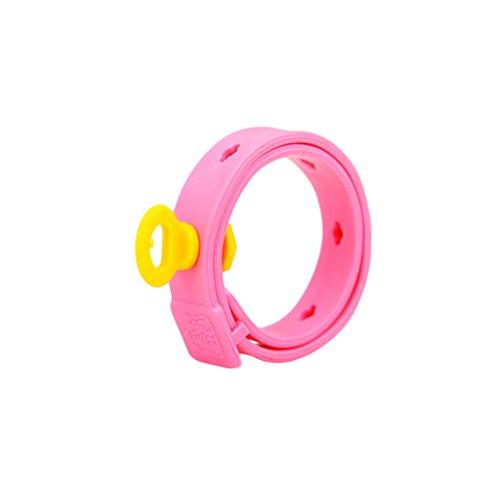 UEETEK Morbido PVC Collari per Pulci e Zecche Repellente, Collari Regolabili per Cani Gatti, Collare Antiparassitario per Cani di Taglia Piccola e Media (Rosa)