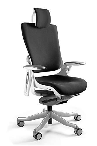 UNIQUE DESIGN FOR PEOPLE - WAU 2 - Silla ergonómica giratoria de Oficina - Blanco/Slategrey (W-709-W-BL417)