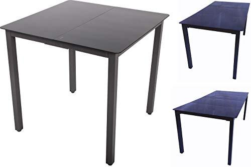 VCM aluminium tafel glas eettafel tuintafel balkontafel tuinmeubelen 140